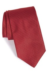 Men's John W. Nordstrom 'Benjamin' Grid Silk Tie Red