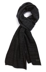 Men's John Varvatos Star Usa Ombre Wool And Cashmere Scarf Black