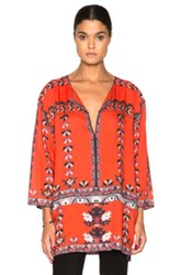 Isabel Marant Sofia Printed Story Blouse In Red Floral
