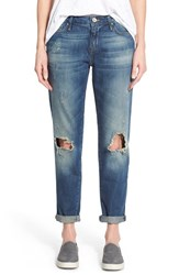 Women's Mavi Jeans 'Ada' Ripped Stretch Boyfriend Jeans Medium Blue