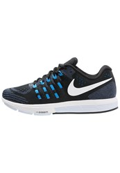 Nike Performance Air Zoom Vomero 11 Cushioned Running Shoes Black White Photo Blue Racer Blue Blue Tint