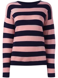 Chinti And Parker Striped Jumper Pink
