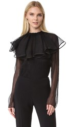 Nina Ricci Blouse With Removable Collar Black