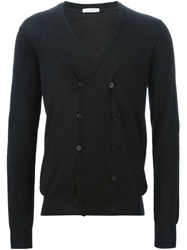 Paolo Pecora Double Breasted Cardigan Black