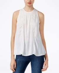 Guess Sleeveless Embroidered Top True White Multi