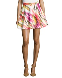 Romeo And Juliet Couture Printed Scuba A Line Skirt Orange Multi