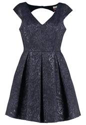 Naf Naf Elibiz Cocktail Dress Party Dress Bleu Marine Dark Blue