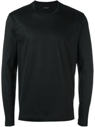 Z Zegna Crew Neck Sweatshirt Black