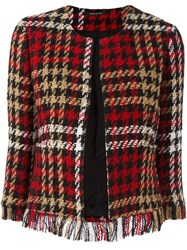 Tagliatore 'Elsa' Cropped Jacket Red