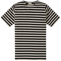 Saint Laurent Stripe Tee Black