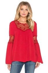 Eternal Sunshine Creations Rosemary Romantic Blouse Red
