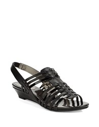 Circa Joan And David Faiza Leather Slingback Sandals Black