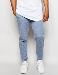 Native Youth Quilted Joggers Blue