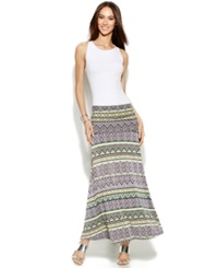Inc International Concepts Petite Tribal Print Convertible Maxi Skirt Red