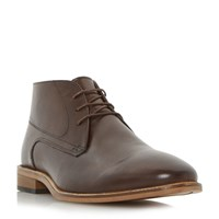 Linea Chainmail Lace Chukka Boots Dark Brown