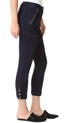 Veronica Beard Cardiff Cargo Jeans Dark Denim