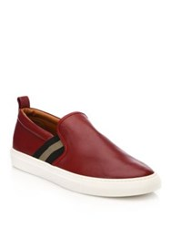 Bally Herald Slip On Leather Sneakers