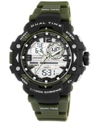 Armitron Men's Analog Digital Chronograph Green Resin Bracelet Watch 53Mm 20 5062Grn