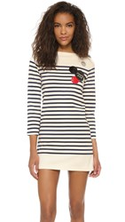 Marc By Marc Jacobs Breton Stripe Dress New Prussian Blue Multi