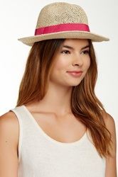 Free Press Banded Paper Fedora Pink