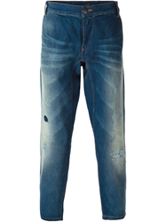 Armani Jeans Distressed Loose Fit Jeans