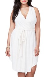 Rachel Roy Plus Size Women's Tie Waist Faux Wrap Dress