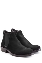 Fiorentini Baker And Suede Chelsea Boots With Leather Trim Black