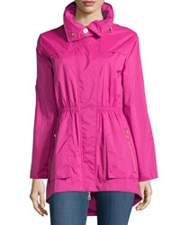 Raison D'etre Roll Sleeve Hooded Anorak Jacket Fuchsia Pink