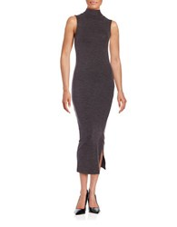 French Connection Bodycon Midi Sweater Dress Grey