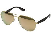 Ray Ban Rb3523 59Mm Matte Gold Matte Brown Light Brown Mirror Pink Fashion Sunglasses Black