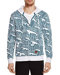Altru Wave Print Zip Hoodie 100 Bloomingdale's Exclusive White