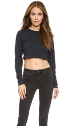 Joan Smalls X True Religion Fitted Crop Sweatshirt Charcoal