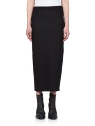 Ann Demeulemeester Stretch Wool Midi Skirt Black