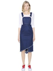 Steve J And Yoni P Cotton Denim Overall Dress