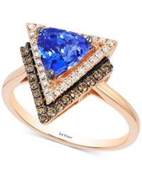 Le Vian Tanzanite 1 Ct. T.W. And Diamond 1 3 Ct. T.W. Geometric Ring In 14K Rose Gold