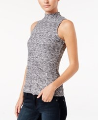 Kensie Sleeveless Mock Turtleneck Top Black Combo