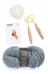 Women's David And Young 'Chelsea' Diy Beanie Kit Grey Heather Grey