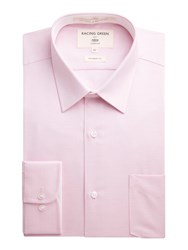 Racing Green Jones Textured Formal Shirt Pink