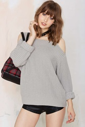 Nasty Gal Shrug It Off Knit Sweater