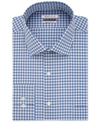 Van Heusen Men's Classic Fit Flex Collar Stream Blue Check Dress Shirt