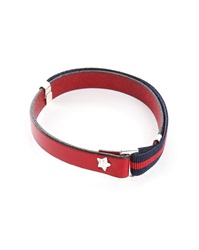 Gilbert Gilbert Hen 13 Red Leather Adjustable Bracelet And Stretch Band