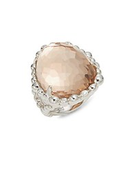 Michael Aram Diamond Crystal And Sterling Silver Molten Ring