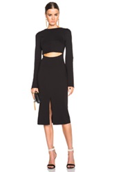 Nicholas Bell Sleeve Dress In Black