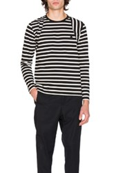 Alexander Mcqueen Long Sleeve Striped Shirt In Black Stripes Black Stripes