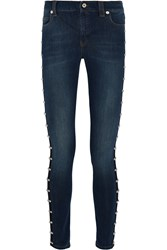 Mcq By Alexander Mcqueen Harvey Studded Skinny Jeans Blue