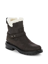Rag And Bone Ashford Shearling Lined Leather Booties Asphalt