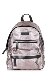 Topshop 'Bristol' Metallic Coated Canvas Backpack