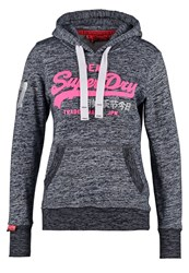 Superdry Sweatshirt Blackened Navy Twist Mottled Grey
