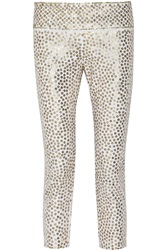 Isabel Marant Carly Sequined Skinny Leg Jeans Metallic