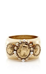Oscar De La Renta Portrait Bangle Gold